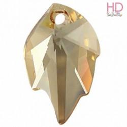 Goccia Foglia Swarovski 6735 mm. 26 x16 Crystal Golden Shadowx 1pz