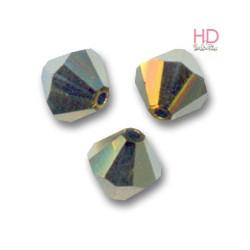 BICONO SWAROVSKI 5328 6mm Crystal Dorado 2x x 20pzz