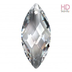Pendente Navette 6110 30x14 mm Crystal Silver Shade x 1Pz