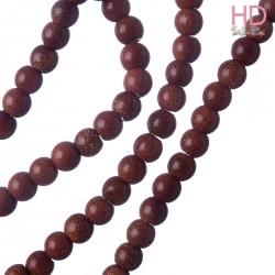 Pallina legno marrone scuro forata 6mm 125pz
