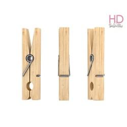 Mollette di legno grezzo 4,5cm x 72 pz
