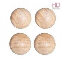 Mezze sfere di legno grezzo 25mm  4pzz