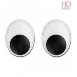 Occhi ovali 0,7x0,5cm 10pz