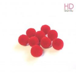 Pompon rossi Ø 15mm x 60pz