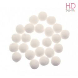 Pompon bianchi Ø 25mm x 25pz