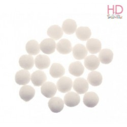 Pompon bianchi Ø 50mm x 6pz