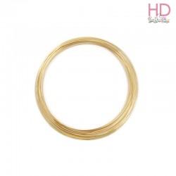 Filo di Alluminio Oro modellabile ø 0.8 mm - 2mt