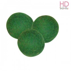 SET 15 PALLINE FORATE IN FELTRO VERDE SCURO - 1 cm STAMPERIA
