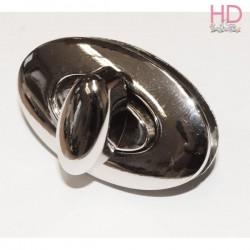 Conf. 1 chiusura girello ovale 5 x 3 h cm per borsa - STAMPERIA