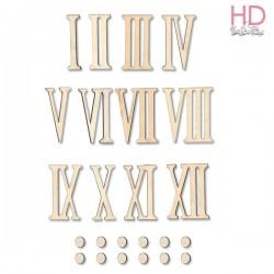 Conf. 12 NUMERI ROMANI h. 2 cm - STAMPERIA