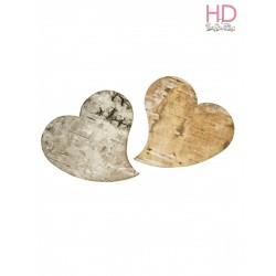 Cuori di corteccia di betulla 5cm 6pzz