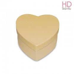 scatola avana cuore 19x18,5xh.9,5cm