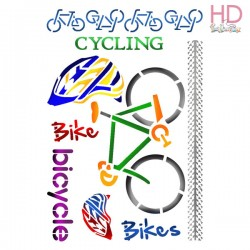 STENCIL G CYCLING 21 x 29,5 CM - STAMPERIA
