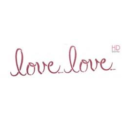 STENCIL B  38 x 15 CM  LOVE LOVE - STAMPERIA