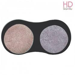 Tampone pigmento metallico per timbri - Rosa e Lilla