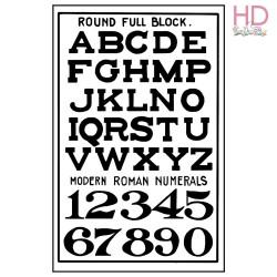 Timbro Alta Defin.caucciù cm.5x7 Alfabeto e numeri