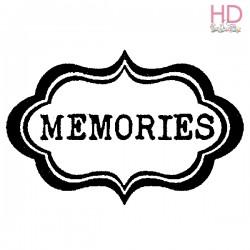 Timbro Alta Defin.caucciù  cm.5x7 Memories