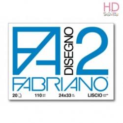 ALBUM DA DISEGNO - 20 FOGLI - LISCIO 24x33CM - FABRIANO