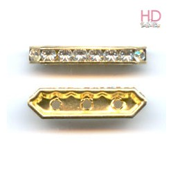 Barra Strass 77719 Crystal base oro 3 fori 5x19mm - 1Pz