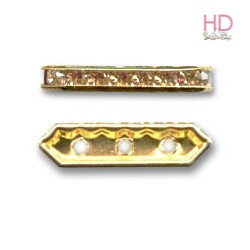 Barra Strass 77719 light colorado topaz base oro 3 fori 5x19mm - 1Pz