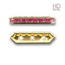 Barra Strass 77719 Light Rose base oro 3 fori 5x19mm - 1Pz