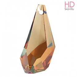 Goccia Poligona Swarovski 6015 50 mm Crystal Copper x 1pz