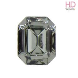 Cabochon Ottagono 4160/2 12x10 mm Black Diamond con castone x 1 Pz