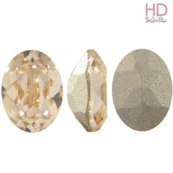 Cabochon Ovale 4130/2 12x10 mm Light Colorado Topaz con castone x 1 Pz