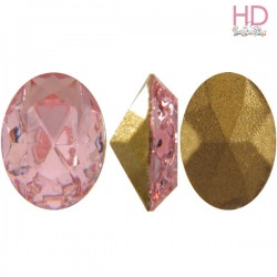 Cabochon Ovale 4130/2 12x10 mm Light Rose con castone x 1 Pz