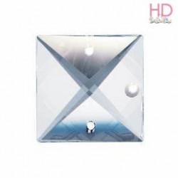 Square Stones Swarovski 8290 22 mm 3 fori Crystal  x 1pz