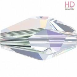 Poligono Swarovski 5203 mm. 12x8 Crystal Aurora Boreale x 1pz