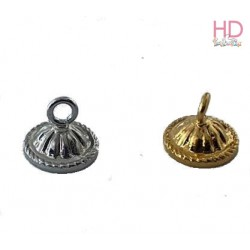 Coppetta x goccia 4861 con anellino oro x 1pz