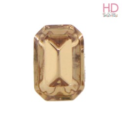 Cabochon Ottagono 4610/2 12x10 mm Light Colorado Topaz con castone x 1 Pz