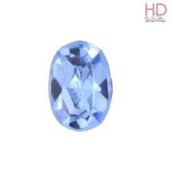 Cabochon Ovale 4130/2 12x10 mm Light Sapphire con castone x 1 Pz
