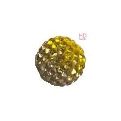 Sfera Strass 10mm Jonquil/Crystal x 1pz