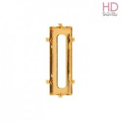 Castone per cabochone 4547 color oro - 1pz