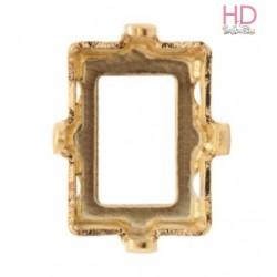 Castone per cabochone 4527 color oro - 1pz