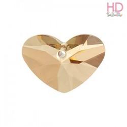 Cuore Crazy 4 Heart Swarovski 6260 Crystal Golden Shadow 17x12mm x 1Pz