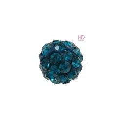 Palla Strass in argilla polimerica 10mm Blue x 1pz
