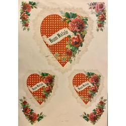 CARTA CLASSICA DECOUPAGE 29,7 x 42 - SWEET ROSE IS