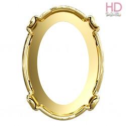 Castone per cabochone 4127 color oro - 1pz