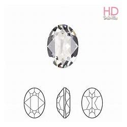 Cabochon Ovale 4120 14x10 mm Crystal x 1 Pz