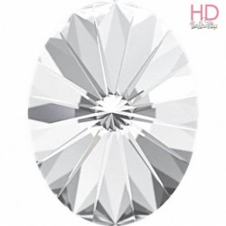 Cabochon Ovale 4122 18x13 mm Crystal x 1 Pz