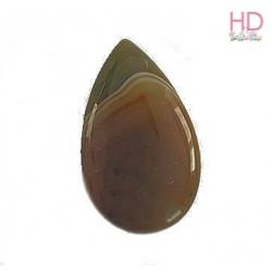 Cabochon in pietra naturale Agata Striata Terra d. 5x3cm x 1pz
