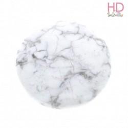 Cabochon in pietra naturale striata bianco d. 2 cm  - 1pz