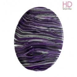 Ovale in pietra naturale striata viola d. 4x3 cm